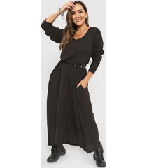 vestido negro minari lanilla morley