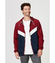 jaqueta em nylon com capuz hering masculina