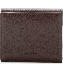 coach women's polished pebble tabby small wallet - oxblood