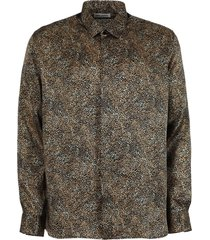 animal print button down shirt