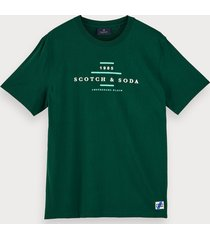 scotch & soda 100% cotton short sleeve logo t-shirt