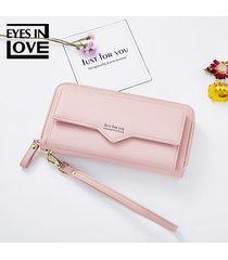 billetera mujeres- monedero de mujer japón y corea del-rosa