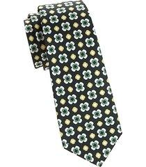 large floral print silk tie