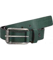 cinturón cuero liso con perforaciones verde panama jack