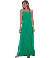 vestido amazonia vital longo viscose com bolso feminino - feminino