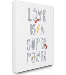 "stupell industries love is a superpower cape and mask canvas wall art, 16"" x 20"""