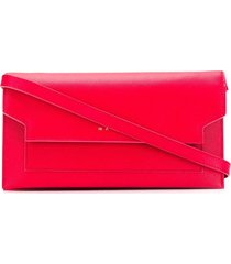marni bellows crossbody wallet - red