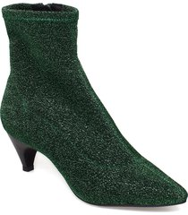 boot high textile shoes boots ankle boots ankle boot - heel grön sofie schnoor