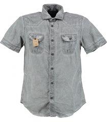 petrol grijs denim overhemd