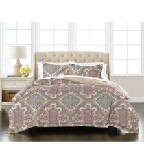 martha stewart collection scarf medallion 3-pc. reversible king comforter set, created for macy's