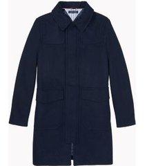 tommy hilfiger men's essential car coat sky captain - m
