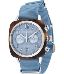 briston watches clubmaster classic 40mm watch - blue