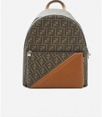 fendi large backpack in fabric with all-over ff motif