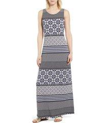 women's tommy bahama tropical terrazza maxi dress, size x-small - black