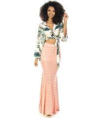 saia longa ocna brasil transparente com hot pants