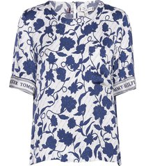 peonie top ss blouses short-sleeved blauw tommy hilfiger