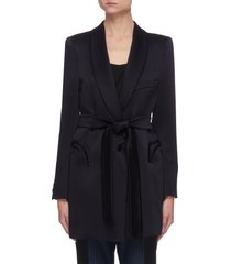 'novalis' belted single breast blazer