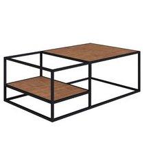 mesa de centro steel vermont e preta