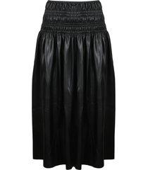 self-portrait shirred midi skirt