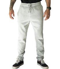 pantalon jogger lettering gris hang loose