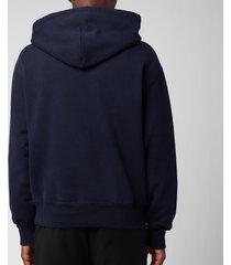 ami men's oversized de coeur logo hoodie - navy - xxl