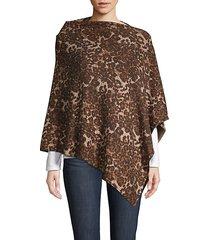 embellished leopard-print poncho