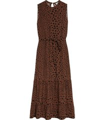 spots maxi dress