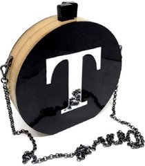 bolsa clutch black inicial personalizada