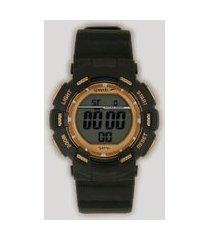 relógio digital speedo masculino - 81168l0evnp2 preto