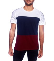 camiseta multicolor frank pierce cortes / x2101