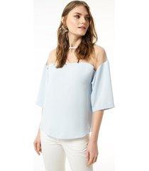 blouse jimmy sanders 19sshtw53028babyblue blouse