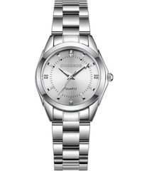 reloj cuarzo mujer acero inoxidable chronos ch230 plateado