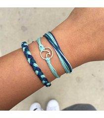 braccialetti multistrato di boemia un set di braccialetti geometrici cava con corda corda gioielli etnici per le donne