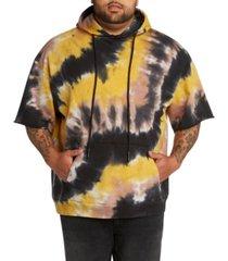 mvp collections men's big & tall tie-dye short sleeve pullover hoodie