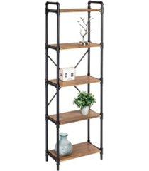 honey can do 5-tier industrial black bookshelf