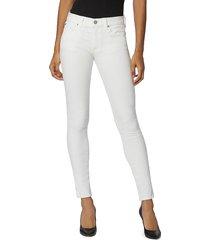 hudson women's krista skinny jeans - white - size 24 (0)