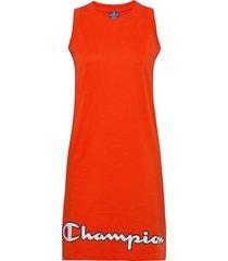 dress knälång klänning röd champion