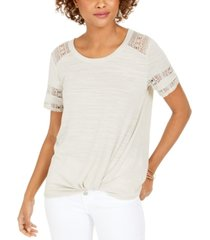 style & co lace-inset top, created for macy's