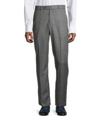 saks fifth avenue men's standard-fit wool pants - grey - size 38