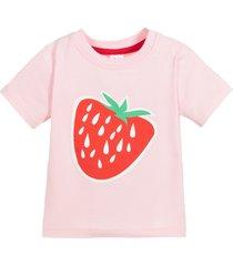 camiseta manga curta morango blade and rose rosa - rosa - menina - dafiti
