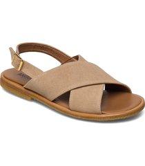 sandals - flat - open toe - op shoes summer shoes flat sandals beige angulus
