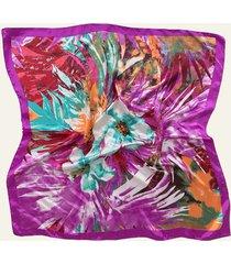 pañuelo violeta nuevas historias pintura de flores ba1275-34