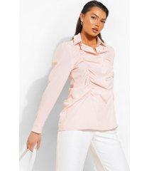 geplooide blouse, peach