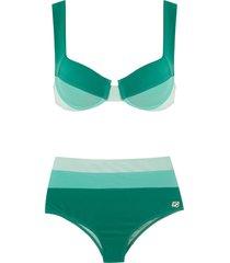 brigitte high waisted bikini set - green