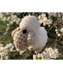 biała owieczka - brelok, zawieszka do torebki