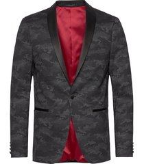 knitted camo tuxedo blazer blazer kavaj svart lindbergh