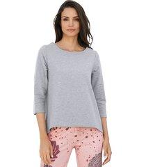 sweatshirt amy vermont grijs::roze