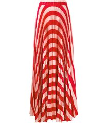 black coral pleated maxi skirt - pink
