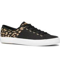zapatilla kickstart 50/50 negro leopardo keds