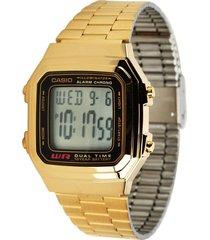 reloj casio a-178wg-1a  unisex - dorado